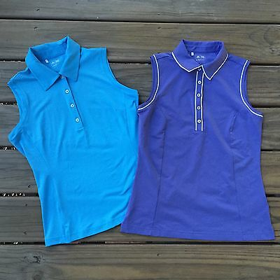 Women's ADIDAS Set Of 2 Golf Tennis Polo Shirts CLIMACOOL LITE Small