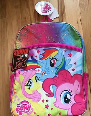 NWT MY LITTLE PONY Backpack For Girls W/SOUND
