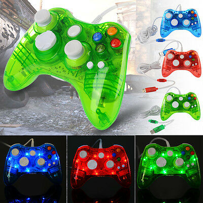 Xbox 360/ Xbox One Controller USB Wired Wireless Game Remote Night Light for PC