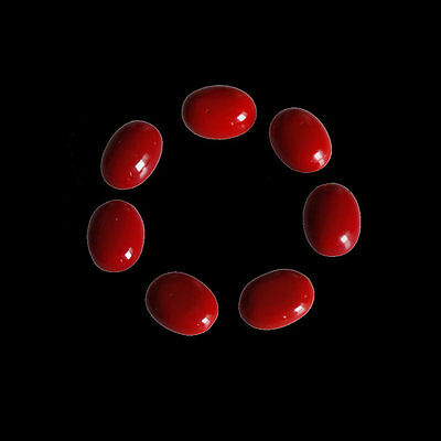 Coral Cabochon 11x9MM Oval Shape, Calibrated Cabochons AG-215