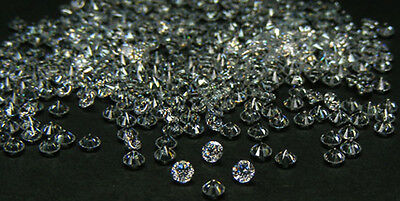 50 Pcs. 1.2 Mm. Europe Machine Cut White Cubic Zirconia  Cz