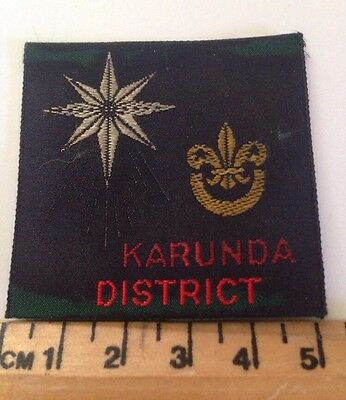 Vintage Karunda District Scout Badge