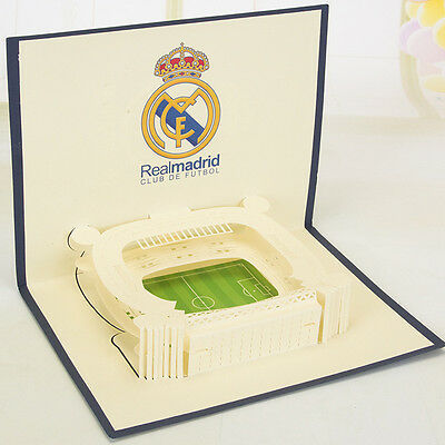 New 3D Paper Handmade Football PostCard Greeting Card Party Invitation Card