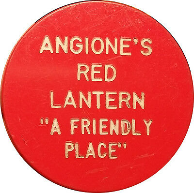 "Angione's Red Lantern ""A Friendly Place"" One Drink Trade Token"