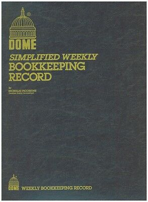 "Dome Weekly Bookkeeping Record Book - 600 - 8-1/2"" x 11"" - BROWN Cover"