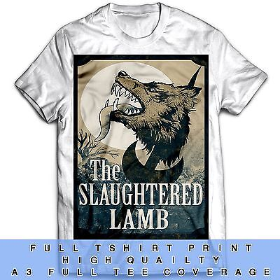The Slaughtered Lamb wood effect American Werewolf Inspired A4 metal Pub sign