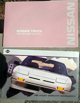 89 1989 Nissan Truck owners manual and 1989 Nissan Warrenty Information booklet