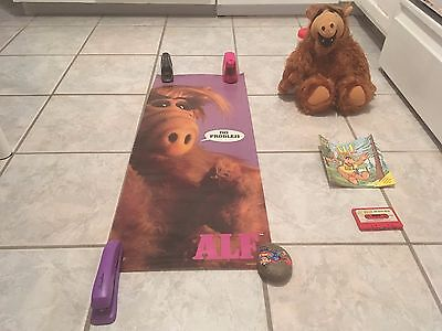 1980's ALF TV Show Lot-18 inch Plush Doll,35 inch Poster,ALF Goes Wild Book-Tape