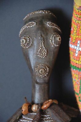 Old African Namji Carved Wooden Doll from Chad …beautiful collectors piece