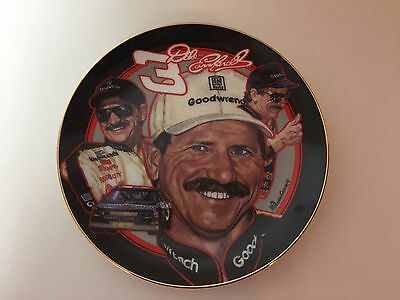 Dale Earnhardt Collector Plate NASCAR Limited Edition The Man in Black Hamilton
