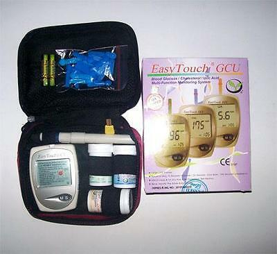 New EasyTouch GCU Glucose Cholesterol & Uric Acid Blood 3 in 1 Monitoring Tester
