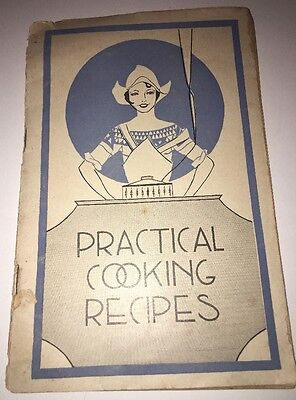 Practical Cooking Recipes Vintage Pamphlet Advertising Antique