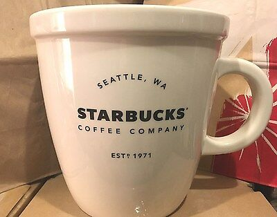 Starbucks Coffee Giant 1 Gallon Abbey Mug Limited Edition Holiday Cup 2016 NWT