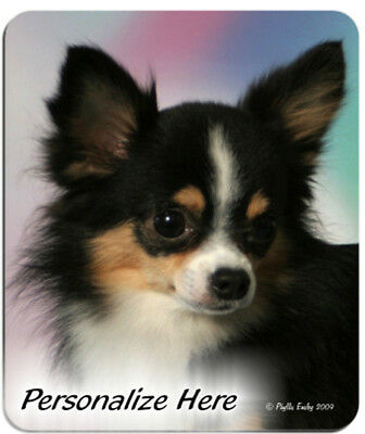 Chihuahua  Long  Hair  black  Personalized Mouse Pad
