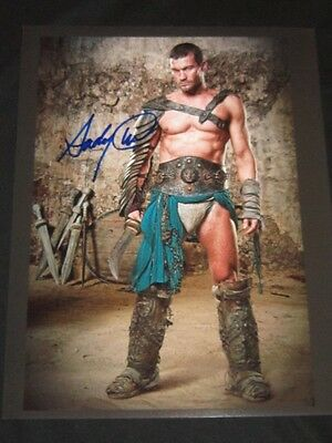Spartacus Andy Whitfield Rare Autograph Signed Photo coa