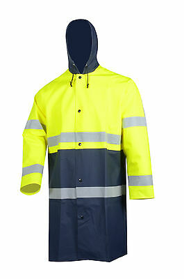 Safety Reflective High Viz Visibility Security Waterproof Worker Wear Rain Coat