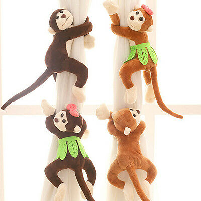 Magnetic Curtain Decoration Clip On Holder Tie Backs -cute  Monkeys Design