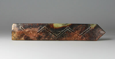 Chinese Jade 'Gui' Sceptre 'Mortality as Determined by the Heavens' Inscription