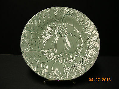 """( 10 ) -  Majolica  Plum  &  Leaves  Plates  *estate Purchase*  """"priced  Right"""""""