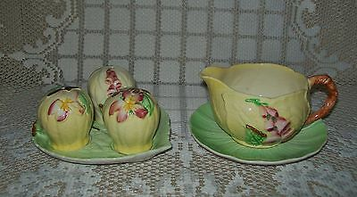 6 x SML VINTAGE CARLTON WARE GREEN/YELLOW ORPHAN PIECES Foxglove/Apple Blossom