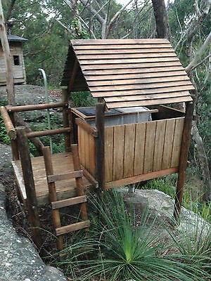Cubby House - Treated Pine - Climbing Fort