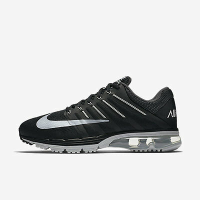 Mens Nike Air Max Excellerate 4 Running Shoes Black/White/Dark Grey 010