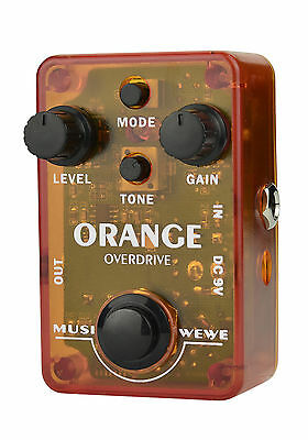 Proudly Australian Designed - 'MUSIWEWE' Orange Overdrive Guitar Effect Pedal