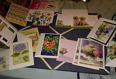 Lot of 27 greeting cards and envelopes