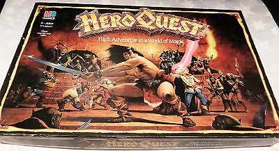 Vintage Hero Quest Board Game - Mb Games. 100 % Complete, Boxed & Unpainted .