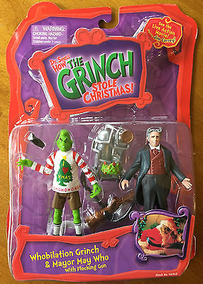 How the Grinch Stole Christmas Whobilation Grinch & Mayor May Who Figurines NIB