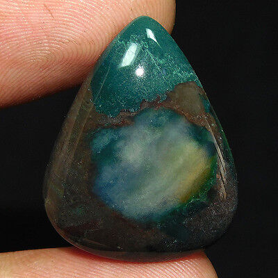 23.9Cts 100% NATURAL CHARMING BLOOD STONE PEAR 27X22 LOOSE CAB GEMS PM138
