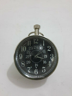 Decorated chrome Table Top Nautical Clock