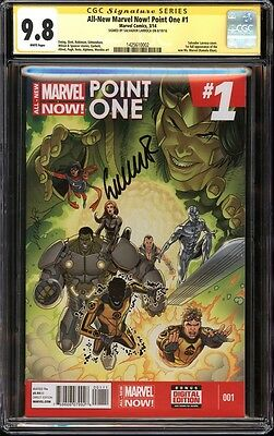 All-New Marvel Now! Point One #1 CGC 9.8 SS Signed Larroca 1st Kamala Khan NM