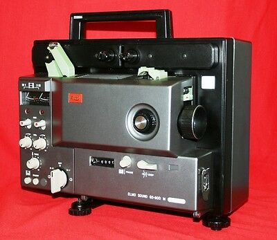 ELMO GS-800M SUPER 8mm STEREO SOUND MOVIE PROJECTOR,  NEW 100w LAMP, SERVICED