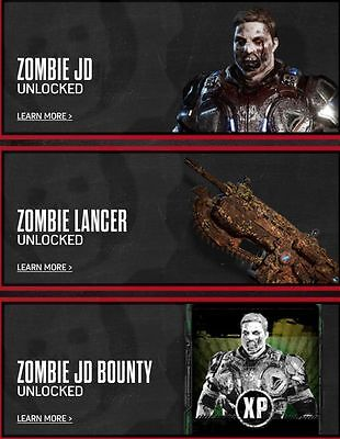 Gears of War 4 Totinos DLC 3 codes (Zombie Jd, Zombie Lancer, bounty card)