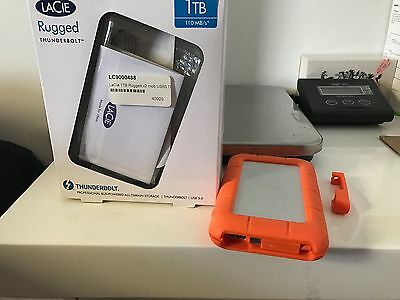 LaCie Rugged Thunderbolt USB3.0 HDD 1TB 2 years warranty