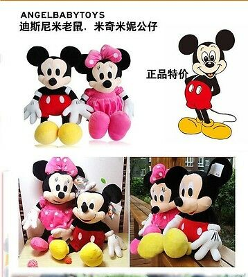 Mickey And Minnie Mouse Plush Disney Toy New Stuffed Set Christmas Store Dolls 1