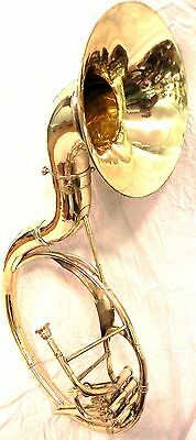 """INDiAN HANDMADE BRASS FINISH 16""""SOUSAPHONE BRASS MADE TUBA MOUTH PIECE WITH BAG"""
