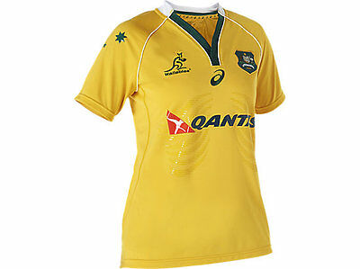 Wallabies 2016 Women's Rugby Jersey by Asics Size 10 (small) NEW