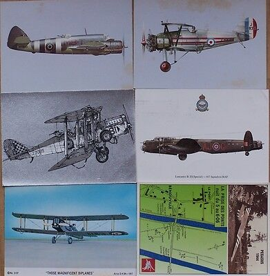 6 Military Aviation Subject Postcards