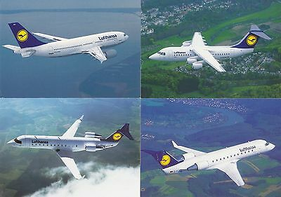 Official Release Aviation Lufthansa Postcards x 4