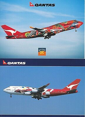 Official Release Aviation Qantas B747 Postcards x 2