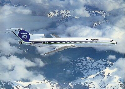 Official Release Alaska Airlines B727 Postcard