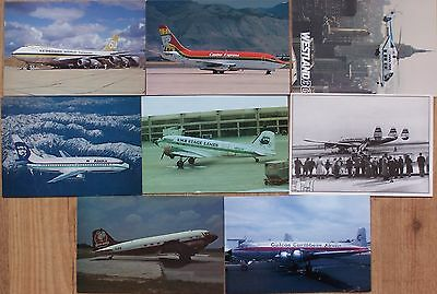 Civilian Aviation Postcards 8 American Airliners