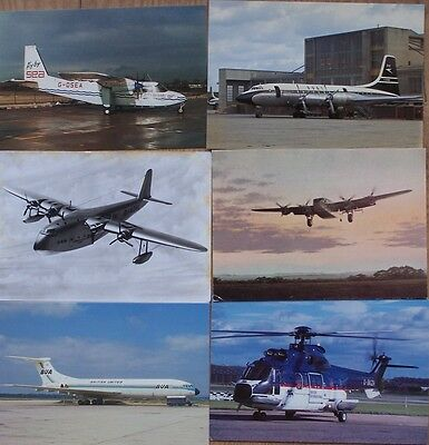 Civilian Aviation Postcards 6 British Airliners