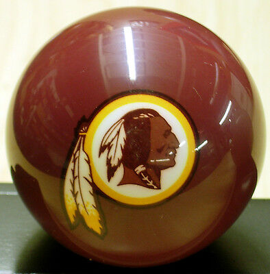 "New, Unused NFL WASHINGTON REDSKINS Billiard Ball, standard 2-1/4"", 6 oz"