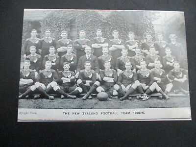 New Zealand Rugby Football Team All Blacks To Uk 1905-06  Print