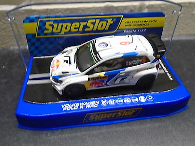 Scalextric/Superslot  H/C3633 VW Polo R WRC #9 Germany 2014  lights & DPR m/b