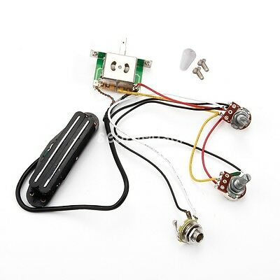 Electric Guitar Prewired Wiring Pickup Volume tone 3-way switch jack fender