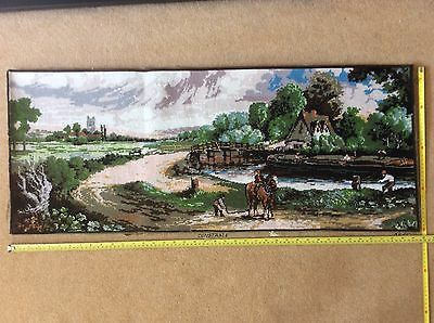 Completed Large Needlepoint Tapestry, Hand Stitched, John Constable 100cmx40cm